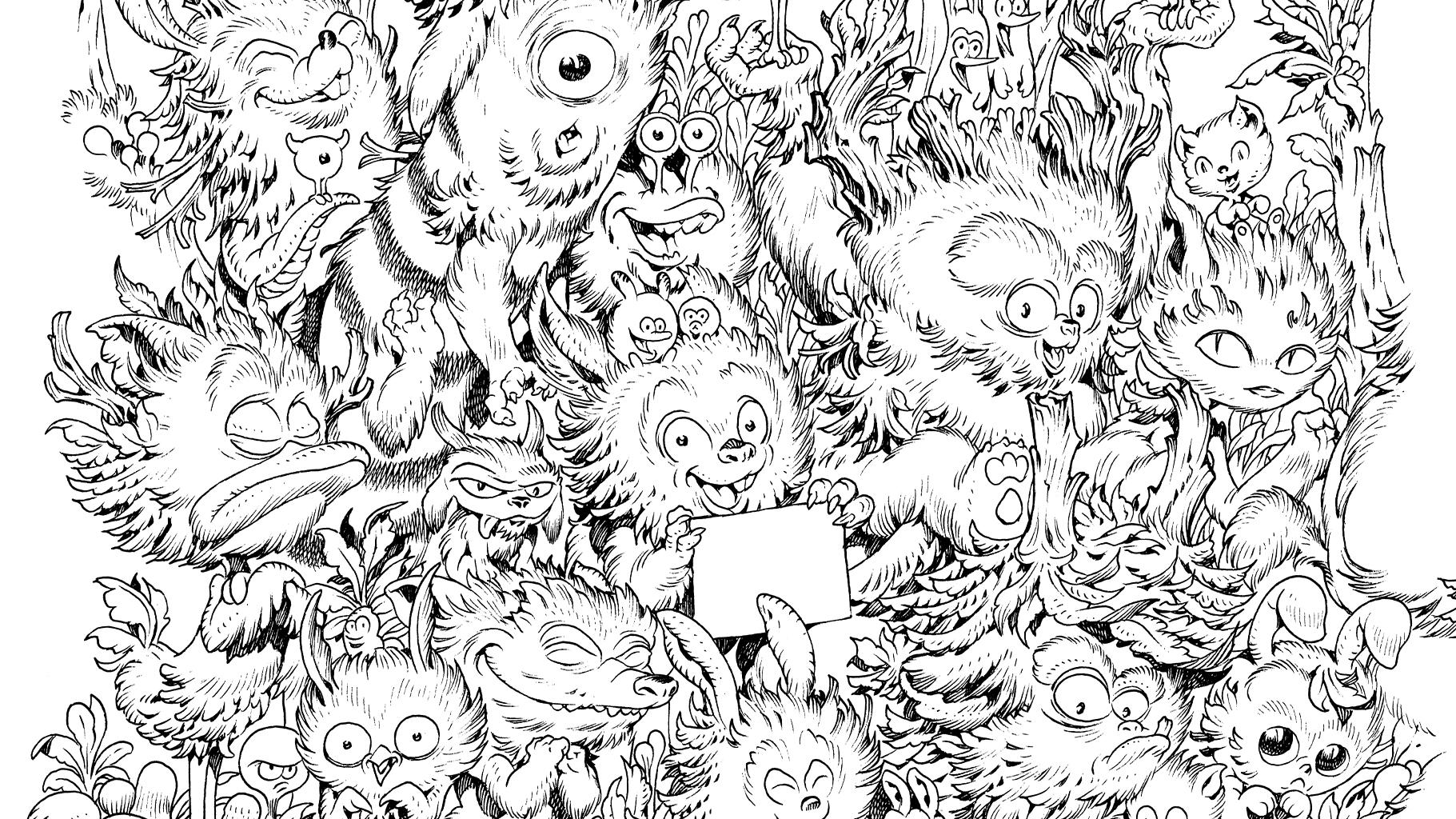 Grand Coloriage Zoo Monsters Festival Bd Aix En Provence